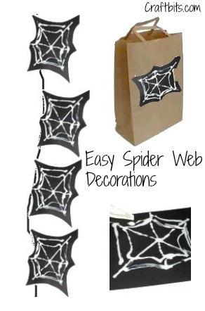 Easy Spider Web Decorations