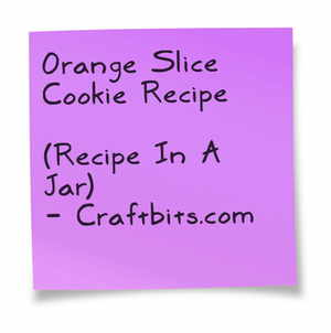 Orange Slice Cookie