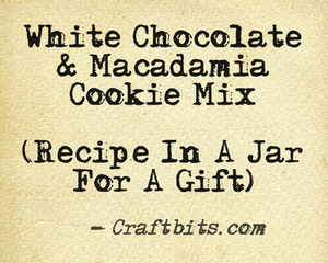 White Chocolate & Macadamia Cookie Mix