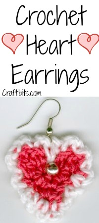 Heart Shaped Crochet Earrings