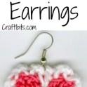 Heart Shaped Crochet Earrings