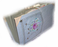 Jeans Letter Binder