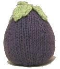 Knitted Baby Eggplant