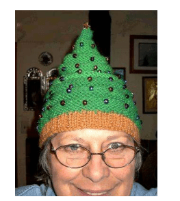 Knitted Christmas Tree Beanie
