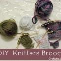 Needle & Wool knitters Brooch