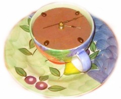 Coffee Cup Clock