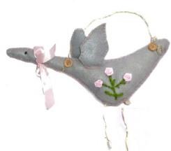 Flying Swan Plushie Hangup