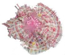 Fabric Petal Brooch