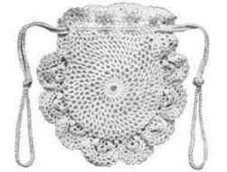Dainty Drawstring Crochet Bag