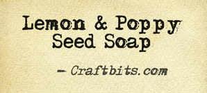 Lemon & Poppy Seed Soap