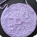 Lotus Flower Crochet Bag