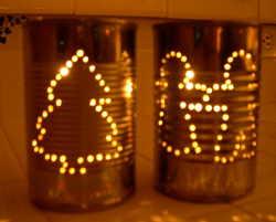 Christmas Tin Can Luminary