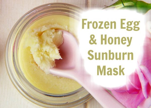 Frozen Egg & Honey Sunburn Mask