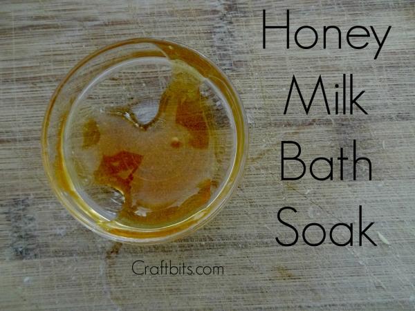 honey--milk-bath-soak