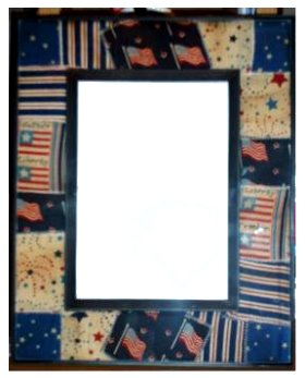Primitive quilted picture frame