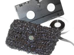 VHS Tape Clutch Purse: Crochet Pattern
