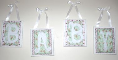 Baby Shower – Canvas Scrapbook Letters