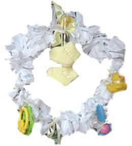 Baby Shower Announcement Wreath