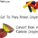 Broken Crayon Solution: Rainbow Crayon Cupcakes