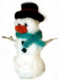 Felted Snowman