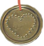 Recycled Tin Lid Ornament
