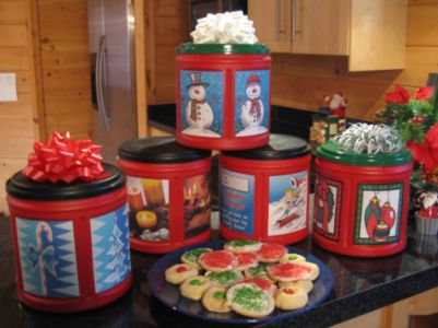 Holiday Coffee Canisters