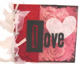 Brown Paper Bag Album – Valentine Theme