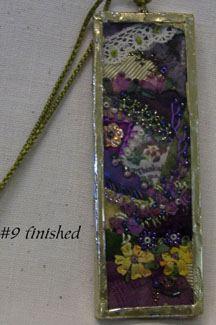 Altered Art Glass Slide Jewelry