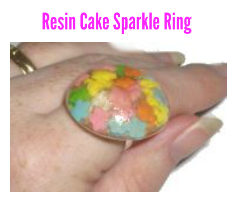 Resin – Cake Sprinkle Ring