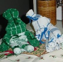 Dish Cloth/Towel Sleepy Time Dolls