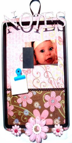 Altered Cookie Tray Notice Board