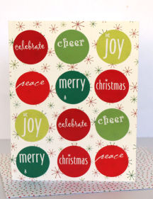Circle Stickers Xmas Card