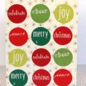 Christmas Card - Circle Stickers