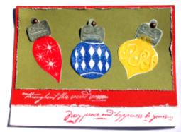 Christmas Card: Glittering Ornaments