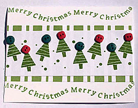 Christmas Card: Trees And Buttons