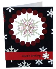 xmas card with button embellishments