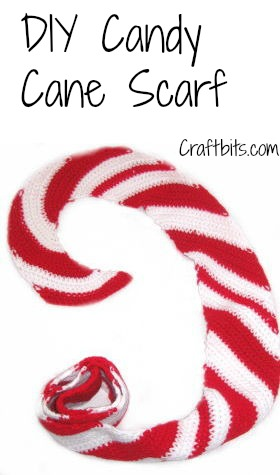 Crochet Scarf: Christmas Candy Cane