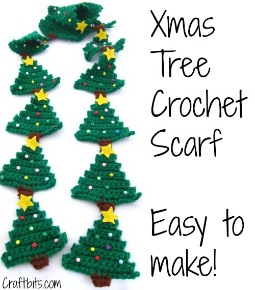 Christmas Tree Crochet Scarf
