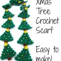 Christmas Tree Crochet Scarf