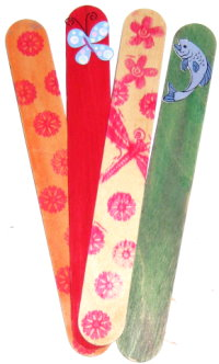 Craft Stick Bookmarks