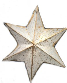Tree Ornament Idea: Aged Crackle Star