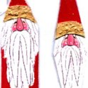 Carved Santa Tree Ornaments