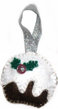 Tree Ornament: Felt Plum Pudding