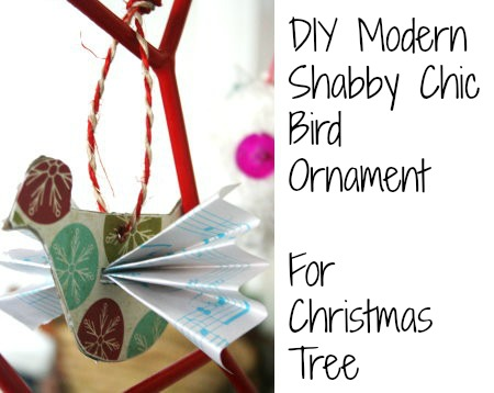 Shabby Chic Bird Tree Ornament