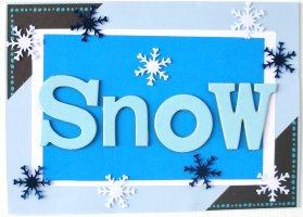 Christmas Card: SNOW Title