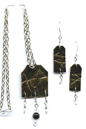 Recycled Belt Chain Necklace