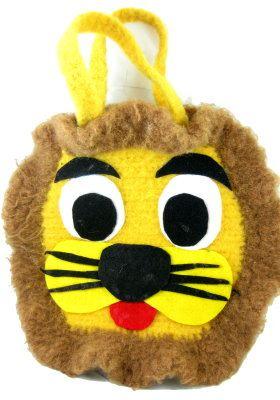 Felted Lion Crochet Bag