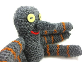 Big Nose Spider Knitted Pattern