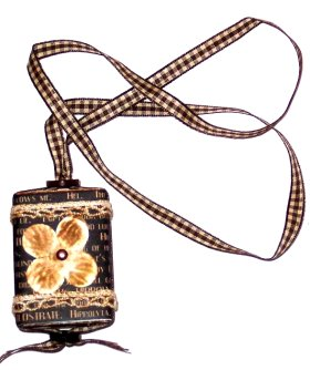 Altered Matchbook – Card Necklace