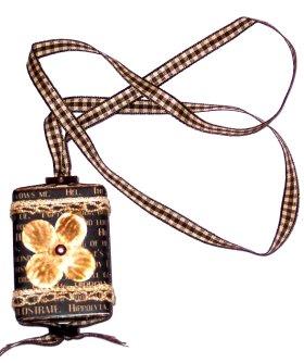 Altered Matchbook – Card Necklace